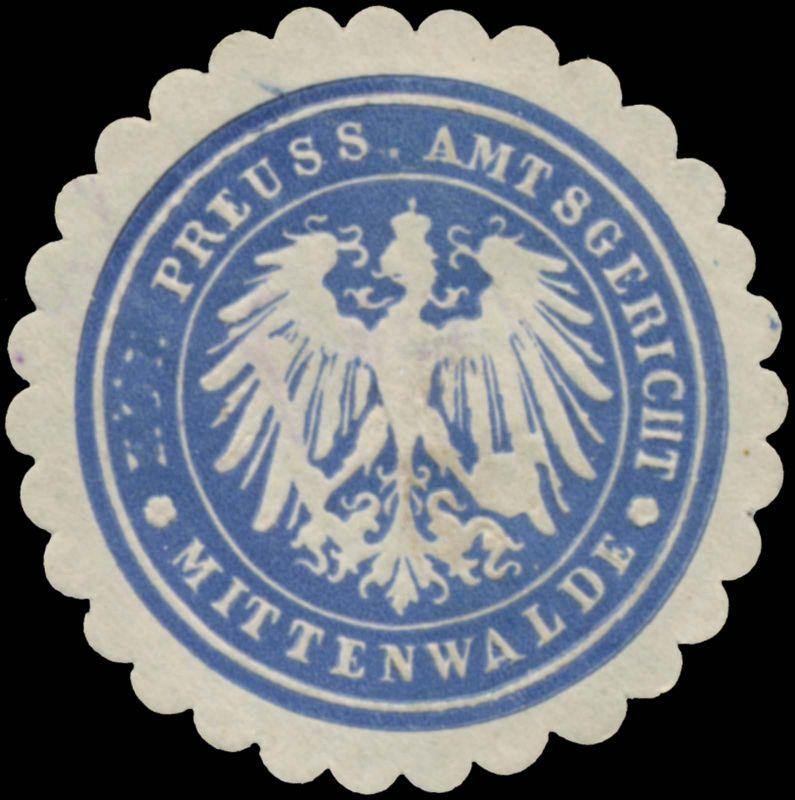 Pr. Amtsgericht Mittenwalde