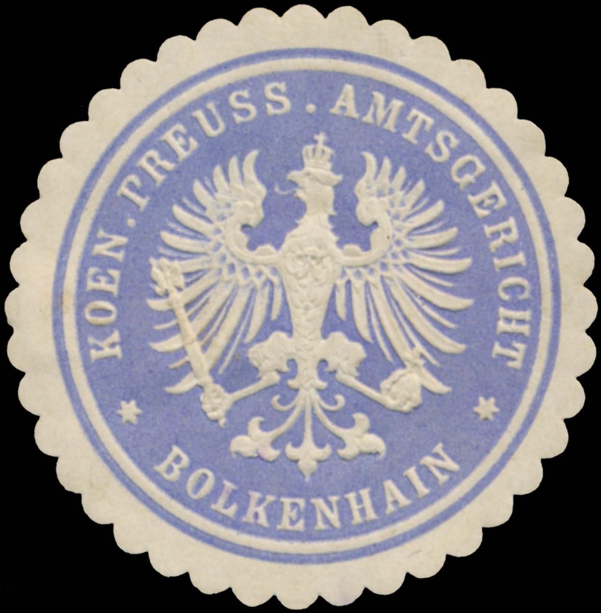 K.Pr. Amtsgericht Bolkenhain