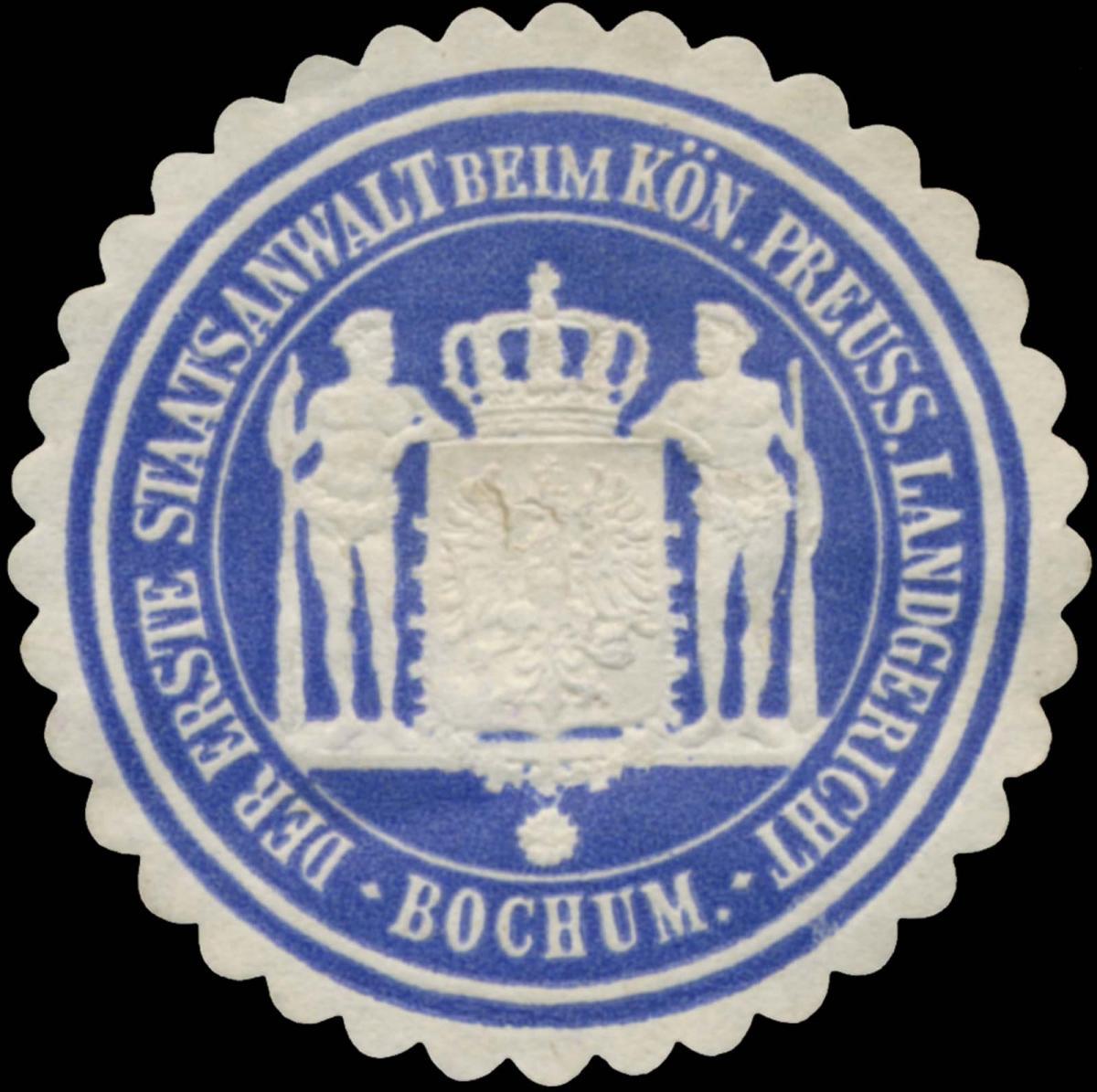Der Erste Staatsanwalt beim K.Pr. Landgericht Bochum