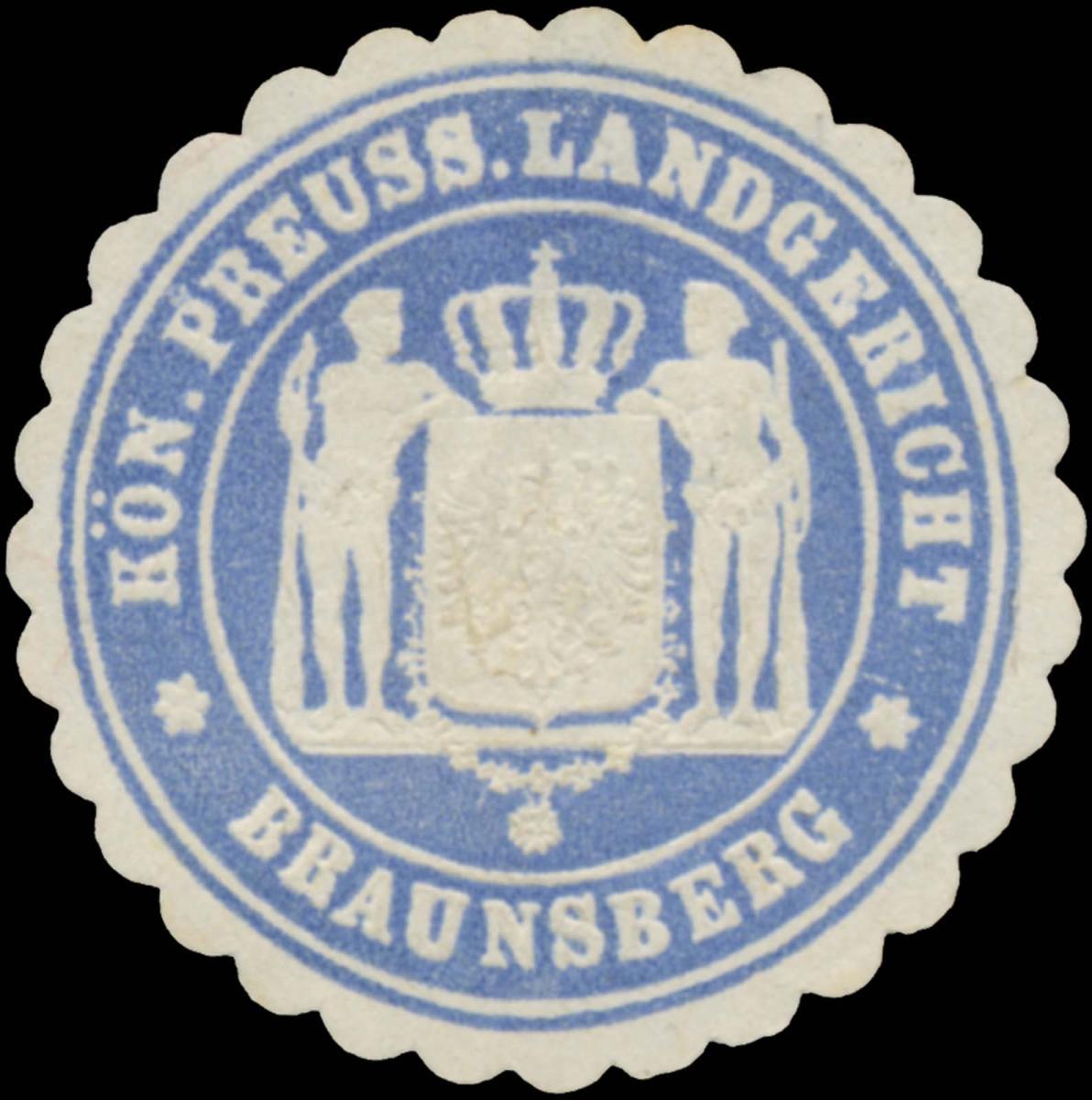 K.Pr. Landgericht Braunsberg/Ostpreußen