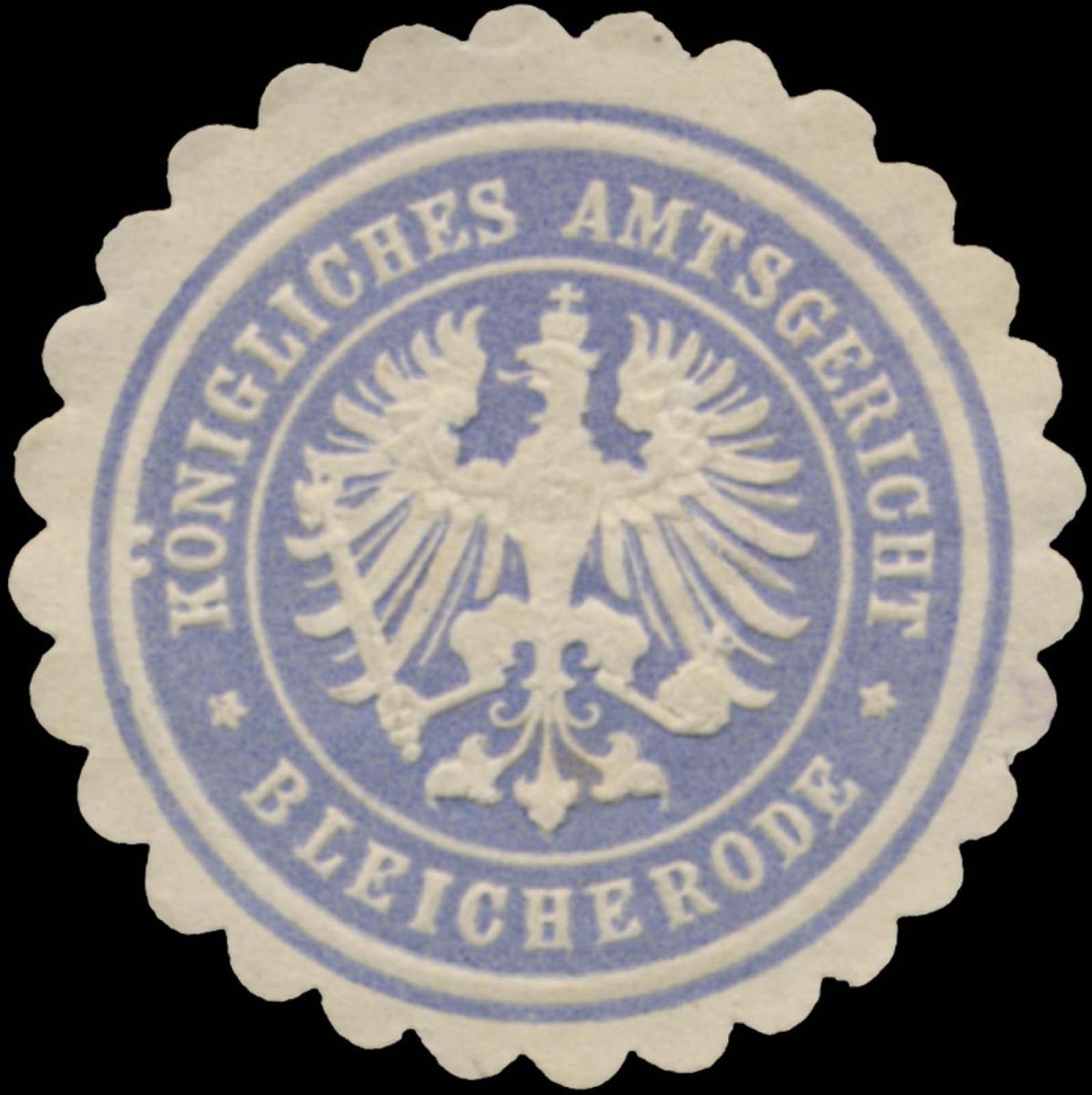 K. Amtsgericht Bleicherode