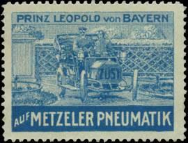 Prinz Leopold von Bayern auf Metzeler Pneumatik Reifen
