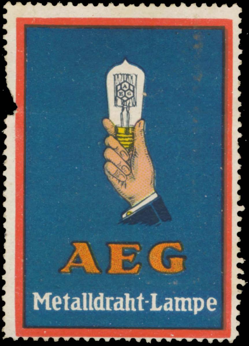 AEG Metalldraht-Lampe
