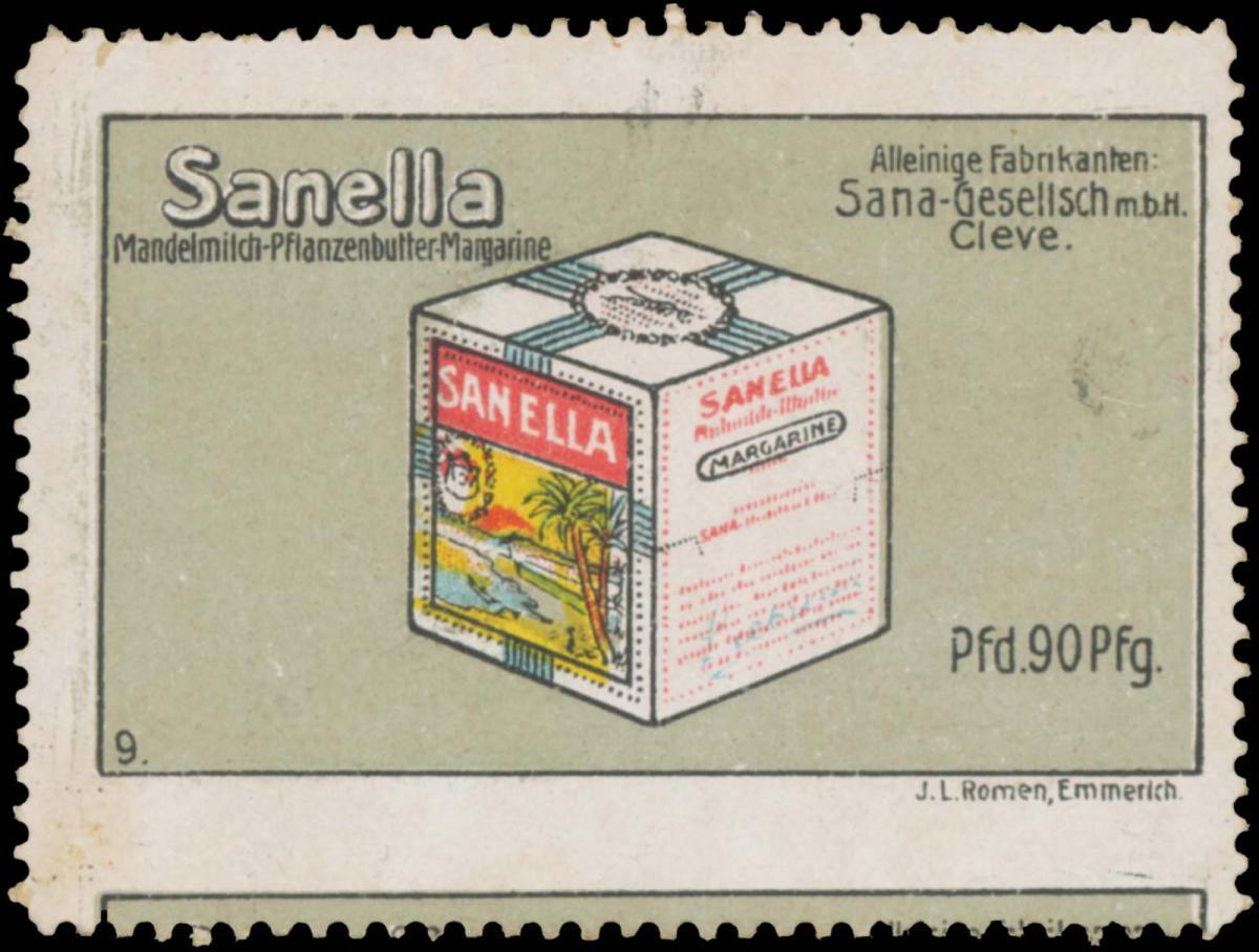 Sanella Mandelmilch-Pflanzenbutter-Margarine