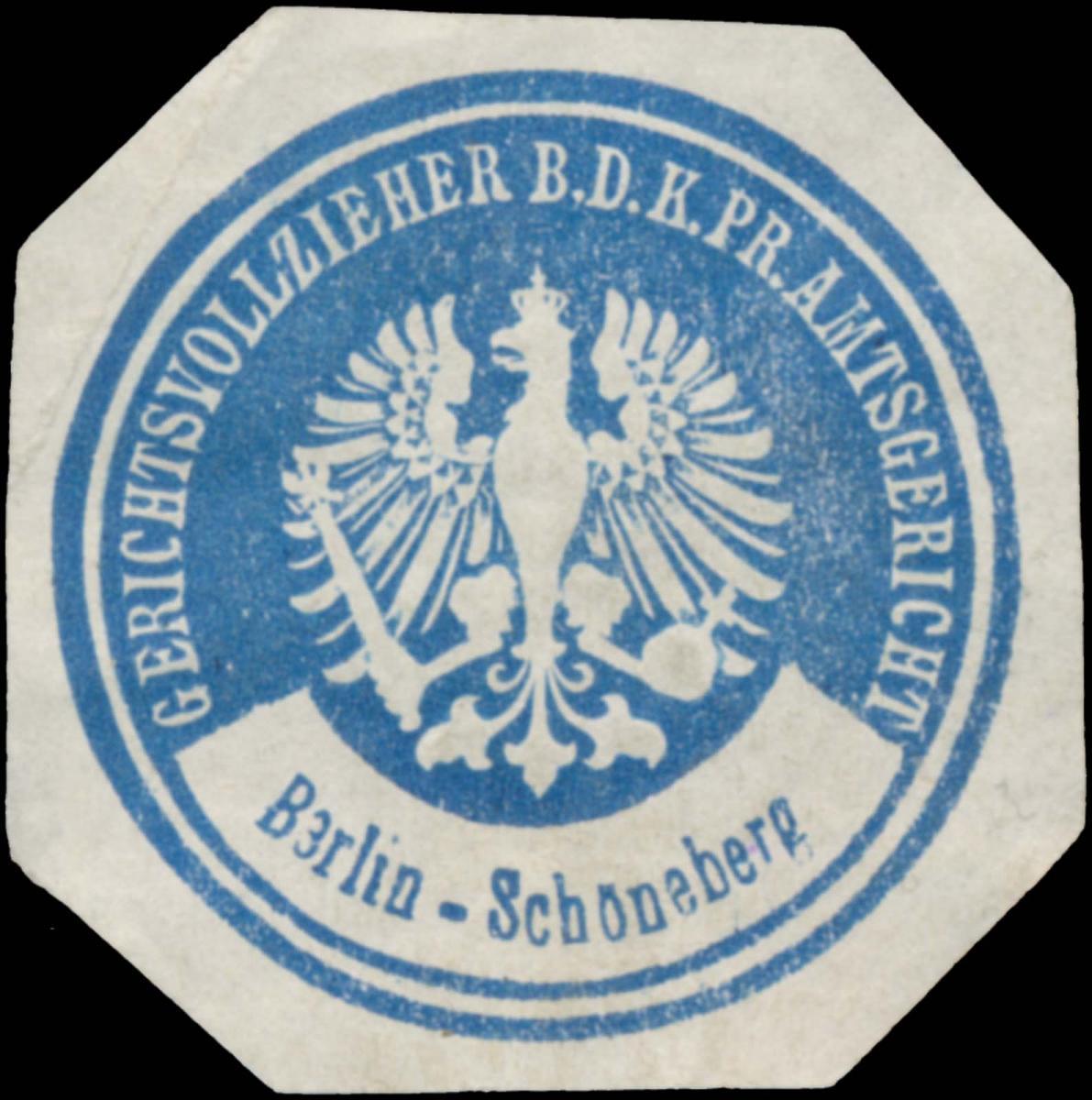 Gerichtsvollzieher b.d. K.Pr. Amtsgericht Berlin Schöneberg