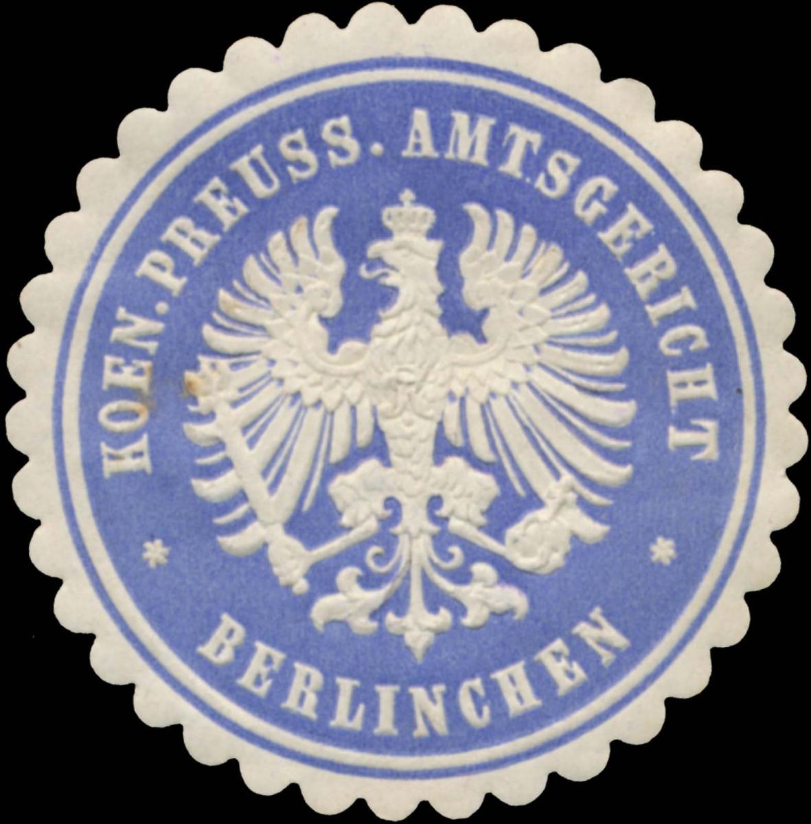 K.Pr. Amtsgericht Berlinchen (Pommern)