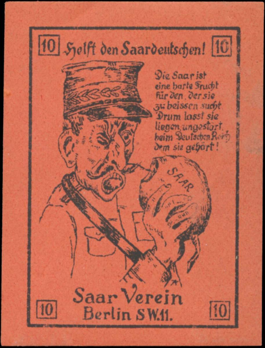 Helft den Saardeutschen!