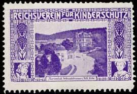 Marienbad-Ferdinandsbrunnen und Kath. Kirche