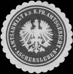 Amtsanwalt b.d. K.Pr. Amtsgericht Aschersleben