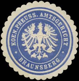 K.Pr. Amtsgericht Braunsberg/Ostpreußen