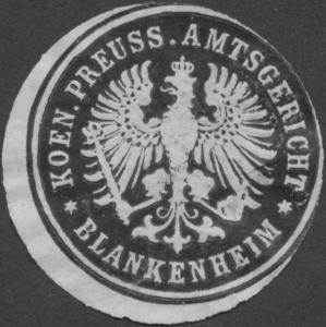 K.Pr. Amtsgericht Blankenheim