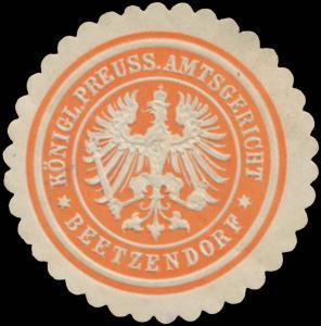 K.Pr. Amtsgericht Beetzendorf