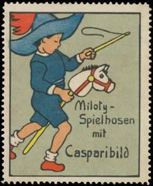 Kind reitet Steckenpferd