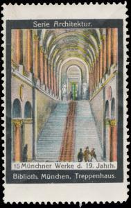 Treppenhaus der Bibliothek in München