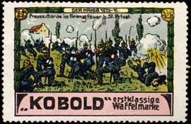 Preussische Garde im Granatfeuer bei St. Privat.