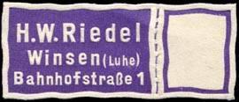 H. W. Riedel - Winsen (Luhe)