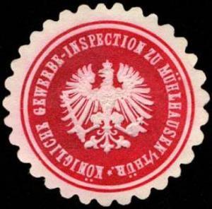 Königliche Gewerbe - Inspection zu Mühlhausen in Thüringen