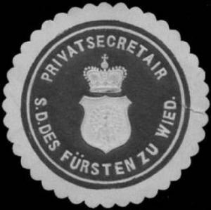 Privatsekretär des Fürsten zu Wied