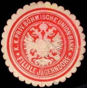 K.K. Priv. Böhmische Union-Bank-Filiale Jägerndorf