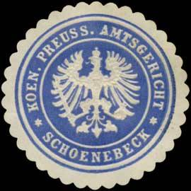 K.Pr. Amtsgericht Schönebeck/Elbe