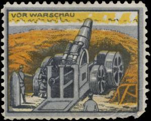 Artilleriegeschütz vor Warschau