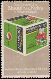 Qualitätsreiche Bisquits- und Keks Marke Zugspitze