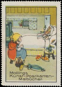 Mollings Kunst-Postkarten-Malbücher