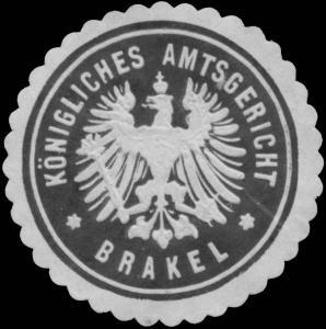 K. Amtsgericht Brakel