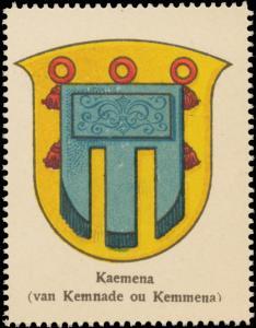 Kaemena (van Kemnade ou Kemmena) Wappen