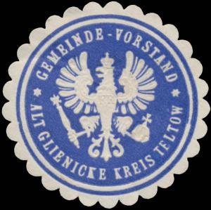 Gemeinde-Vorstand Altglienicke Kreis Teltow