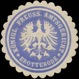 K.Pr. Amtsgericht Brotterode