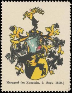 Marggraf (zu Konstein) Wappen