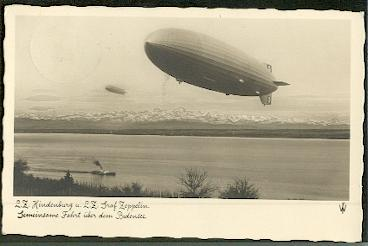 Hindenburg u. Graf Zeppelin.