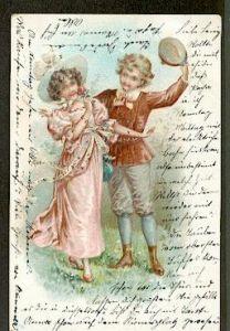 Liebespaar. Litho und Prägedruck. 0