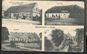 Spantekow in Pommern. Kolonial und Schnittwaren