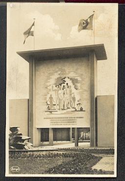 """Dresdner Jahresschau 1935. """"Der rote Hahn""""."""