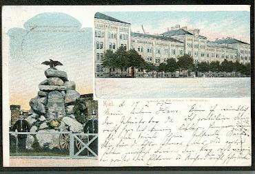 Kiel. Kaserne des Kaiserlichen I Seebataillon.