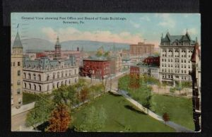 USA. Scranton. Pa. General View showing Post Office