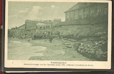 Westerland. Sturmverheerungen von der Sturmflut 1922