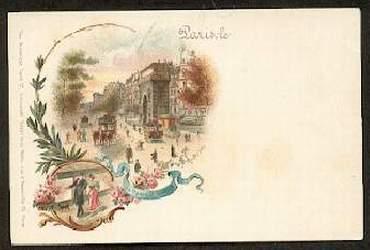 Paris. La Porte St Martin. (Litho).