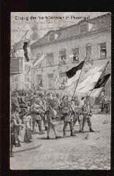 Przemysl. Einzug der Verbündeten in Przemysl.