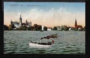 Schwerin i M. Blick vom See aus.