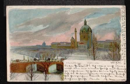 Wien. Elisabethbrücke. Karlskirche