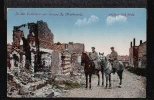 In der Trümmern von Somme Py. (Frankreich)