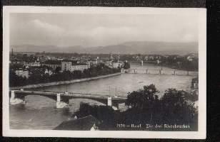 Basel. Die drei Rheinbrücken.