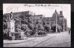 Glogau. Fritz Reuter Brunnen. Synagoge.