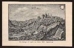 Dornburg a. d. Saale im Jahre 1650. Nach Merian