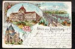Strassburg. Gruss aus. Synagoge