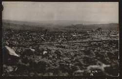 Zerstörung. I Weltkrieg. Foto