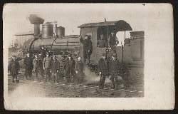 Eisenbahn. Lokomotive. Foto